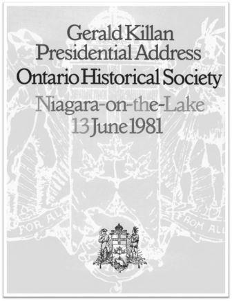 1981 Gerald Killan Presidential Address Cover