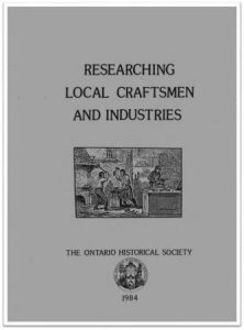 1984 Researching Local Craftsmen and Industries Cover