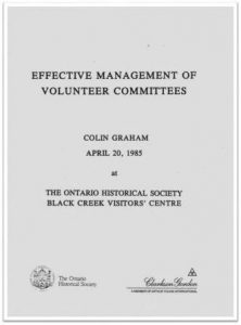 1985 Effective Management of Volunteer Committees Cover
