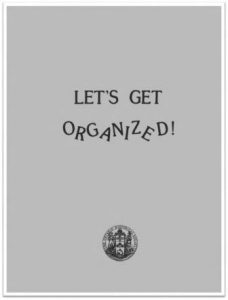 1985 Let's Get Organized Cover