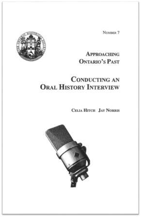 1987 Approaching Ontario's Past - Oral History Cover
