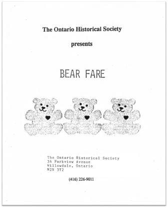 1989 Bear Fare Cover