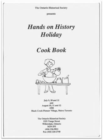 1990 Hands on History Holiday Cook Book Cover