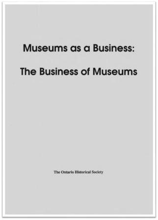 1990 Museums as a Business Cover