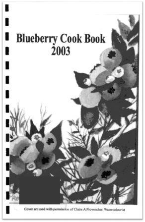 2003 Blueberry Cook Book Cover