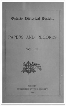 Ontario History 1901 v3 Cover