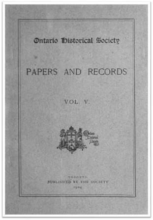 Ontario History 1904 v5 Cover