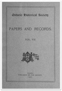 Ontario History 1906 v7 Cover