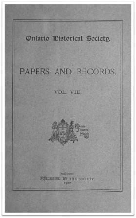 Ontario History 1907 v8 Cover