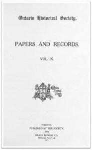 Ontario History 1910 v9 Cover