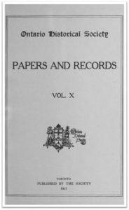 Ontario History 1913 v10 Cover