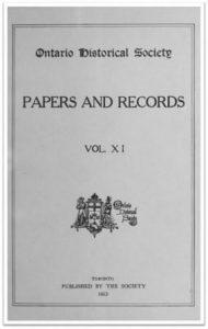 Ontario History 1913 v11 Cover