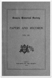 Ontario History 1914 v12 Cover