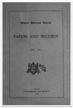 Ontario-History-1916-v14 Cover