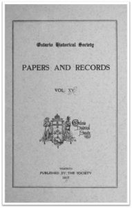 Ontario-History-1917-v15 Cover