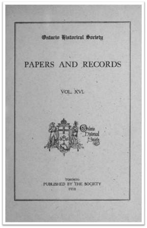 Ontario-History-1918-v16 Cover