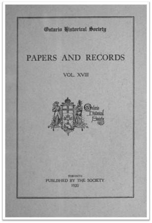 Ontario History 1920 v18 Cover