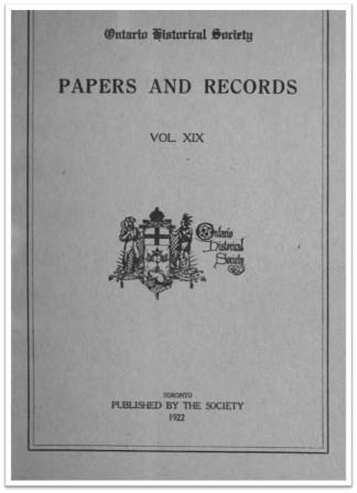 Ontario History 1922 v19 Cover