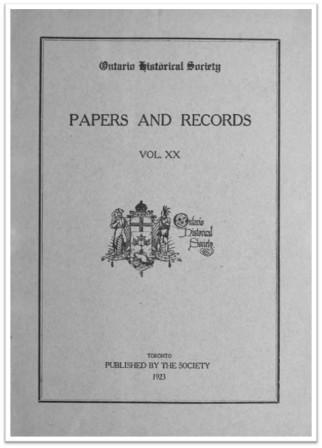 Ontario History 1923 v20 Cover