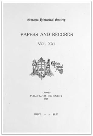 Ontario History 1924 v21 Cover
