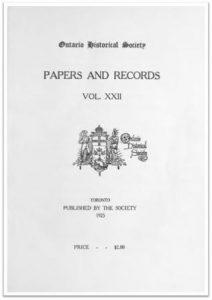 Ontario History 1925 v22 Cover