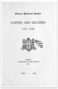 Ontario History 1926 v23 Cover