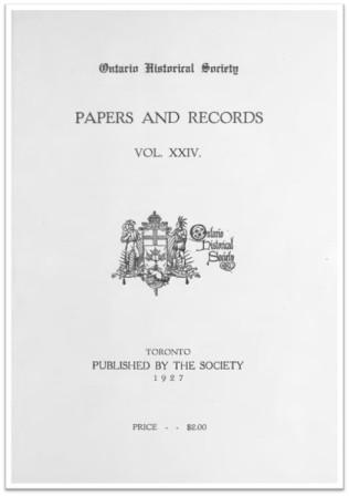 Ontario History 1927 v24 Cover