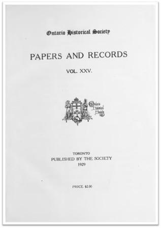 Ontario History 1929 v25 Cover