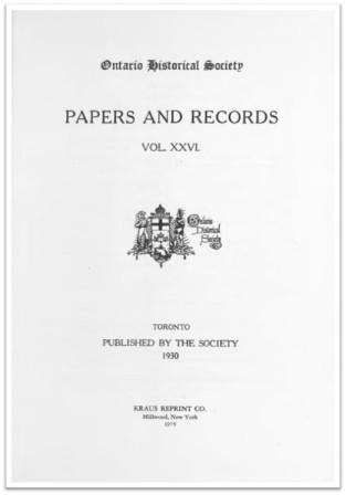Ontario History 1930 v26 Cover