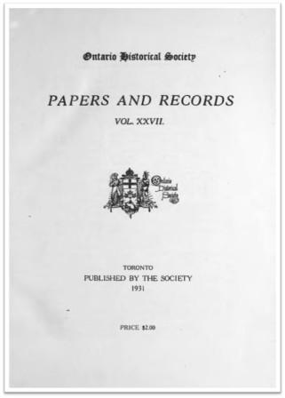 Ontario History 1931 v27 Cover