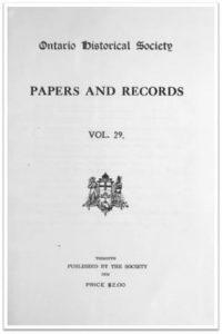 Ontario History 1933 v29 Cover