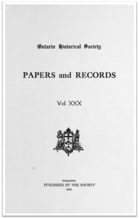 Ontario History 1934 v30 Cover