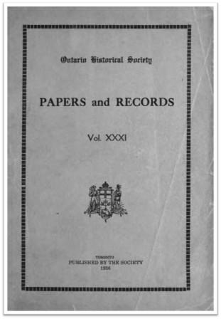 Ontario History 1936 v31 Cover
