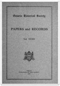 Ontario History 1937 v32 Cover