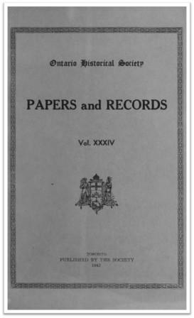 Ontario History 1942 v34 Cover
