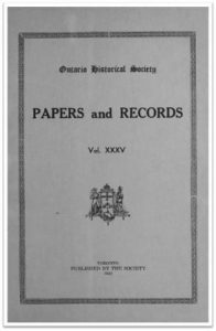 Ontario History 1943 v35 Cover