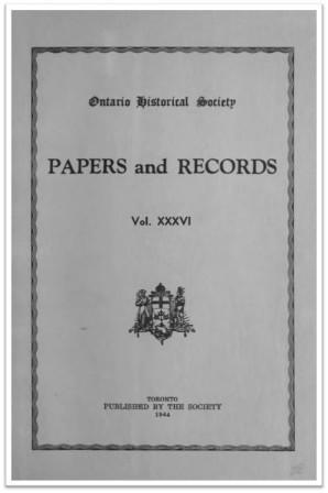 Ontario History 1944 v36 Cover