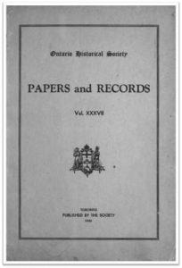 Ontario History 1945 v37 Cover