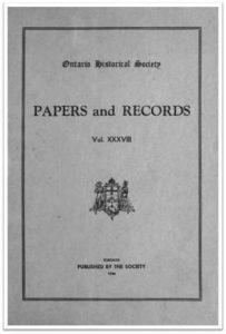 Ontario History 1946 v38 Cover