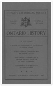 Ontario History 1947 v39 Cover