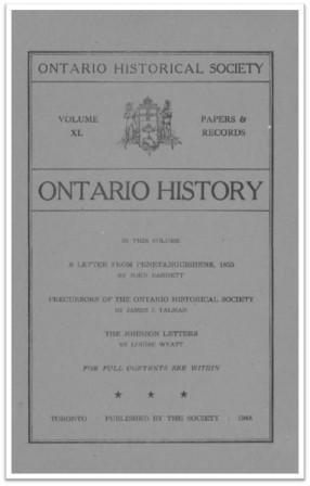 Ontario History 1948 v40 Cover