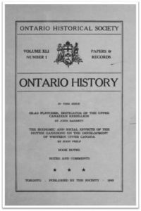 Ontario History 1949 v41 n1 Cover