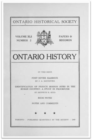 Ontario History 1949 v41 n2 Cover