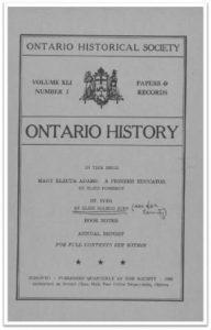Ontario History 1949 v41 n3 Cover