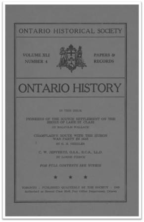 Ontario History 1949 v41 n4 Cover