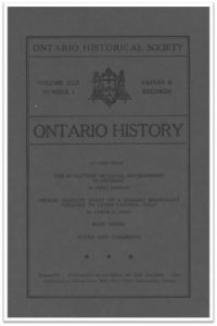 Ontario History 1950 v42 n1 January Cover