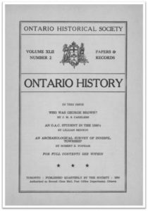 Ontario History 1950 v42 n2 April Cover