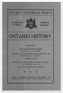 Ontario History 1950 v42 n3 July Cover