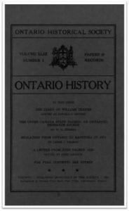 Ontario History 1951 v43 n1 January Cover