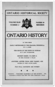 Ontario History 1951 v43 n2 April Cover